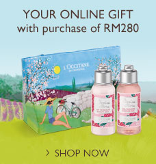Your online exclusive gift with purchase of RM280 and above